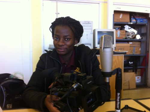 Akosua, camera operator