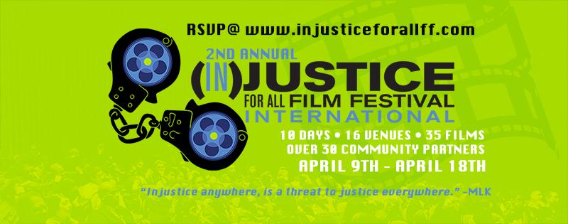Injustice For All Film Festival Header