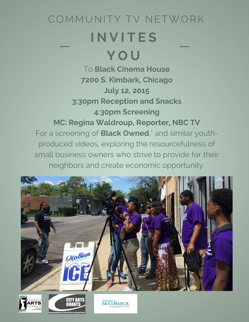 Community TV Network-Black Owned- and other youth-produced videos- Black Cinema House Flyer
