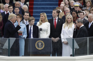 Donald Trump is sworn in as the 45th president of the United States. (Photo Credit: AP Photo/ Patrick Semansky)