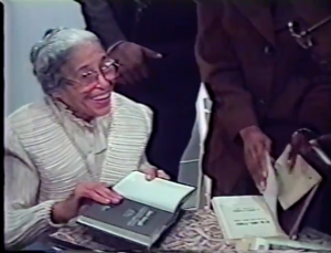 Rosa Parks at her 1998 Chicago book signing.