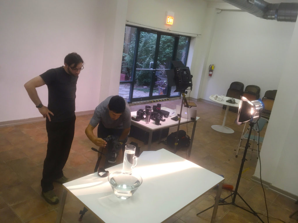 CTVN workshop: Jon Mueller and Vedran Residbegovic experiment with light reflections